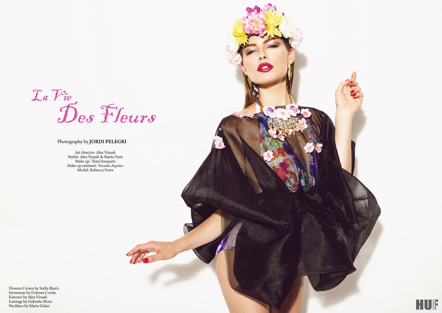 La Vie des Fleurs for HUF magazine