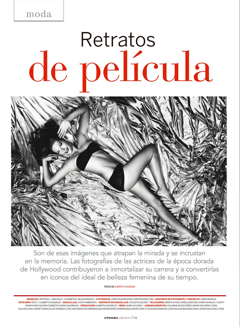 Retratos de película for El Periódico Exclusive
