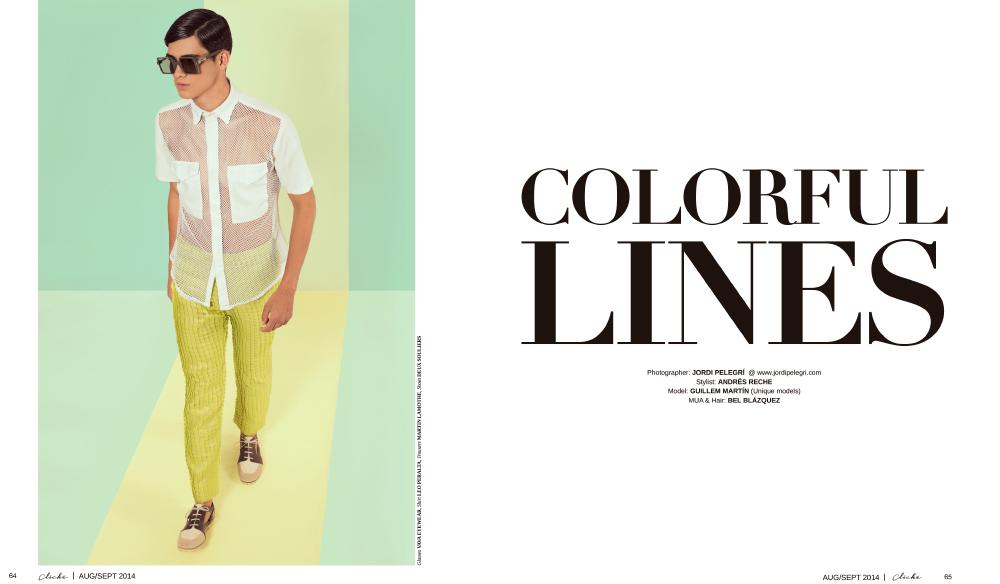 Colorful Lines for Cliché Magazine