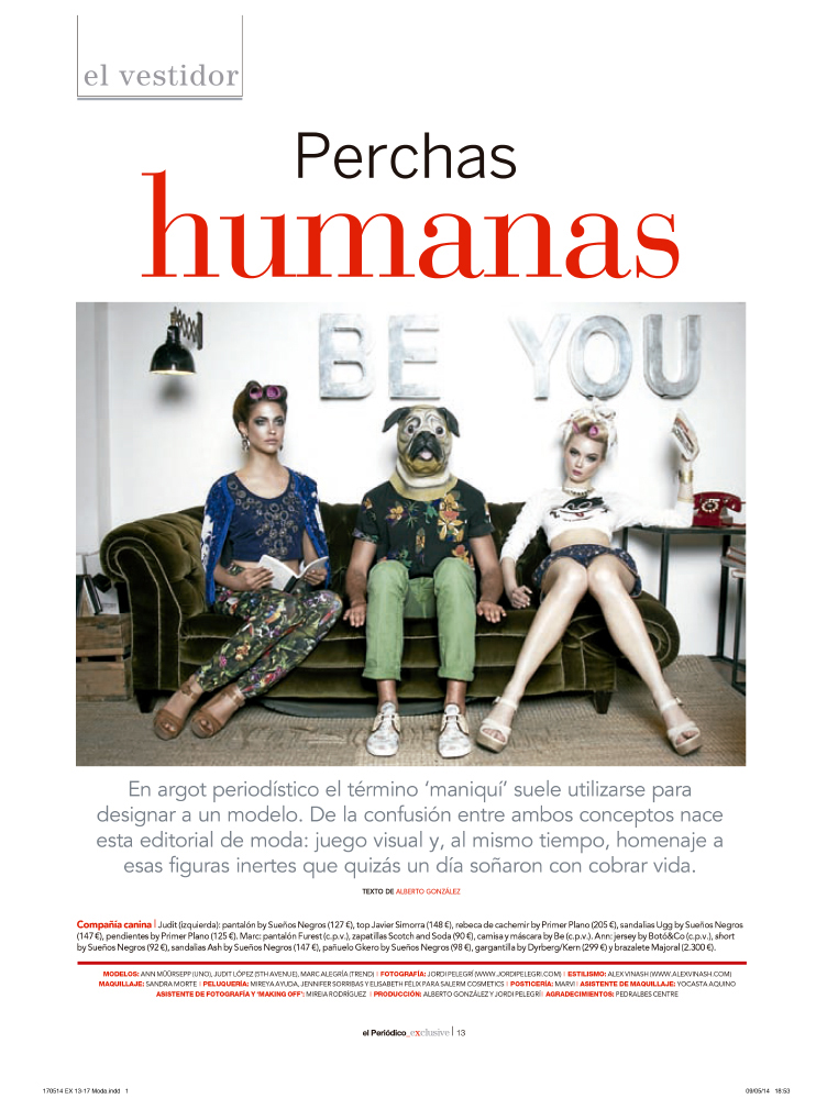 Perchas Humanas for El Periódico Exclusive
